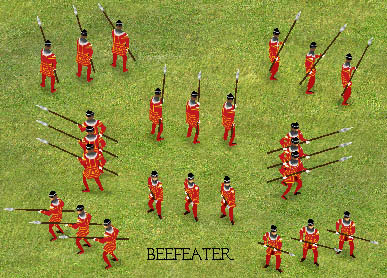 Beefeater Mod by CJ,  Skin mod that replaces the pikemen. Download . . .