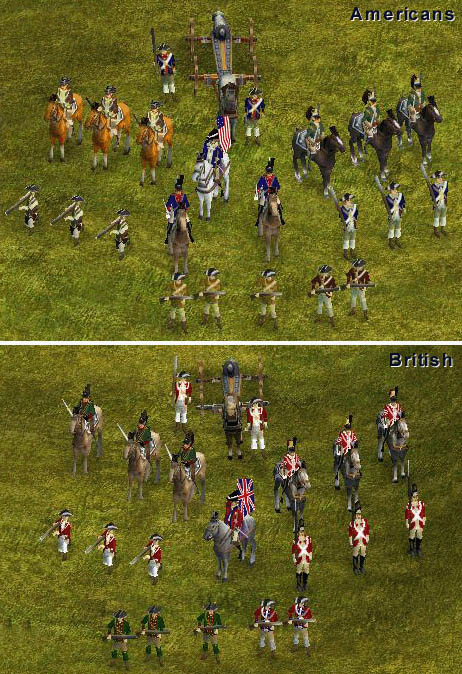 American Revolution War Mod by MrClean - Units for the American and British Forces (skins and associated model files). Comes with two versions (with and without player color) and documentation.  Download...  1st Place Winner of RONH 2003 Skin Mod Contest